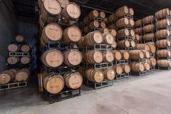 Almacenamiento del barril de vino Fotos de archivo libres de regalías