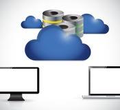 Almacenamiento del servidor del ordenador de la nube Fotografía de archivo libre de regalías