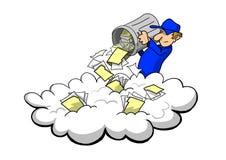 Almacenar los desperdicios en la nube Foto de archivo libre de regalías