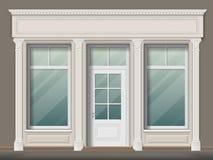 Almacene el frente con las columnas ilustración del vector