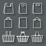 Almacene el sistema del bolso Imagen de archivo libre de regalías