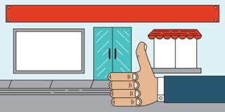 Almacene a Front Sales Agency Thumbs Up Imagen de archivo