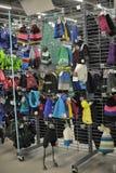 Almacene la ropa del invierno Foto de archivo libre de regalías