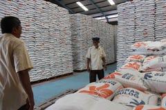 Almacenes de almacenamiento del arroz imagen de archivo