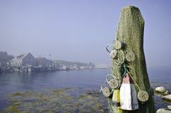 Almacenes de los pescados en el puerto indio, Nueva Escocia Fotos de archivo
