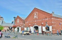 Almacenes del ladrillo rojo en Hakodate, Japón foto de archivo libre de regalías