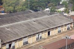 Almacenes en el puerto de Cochin imágenes de archivo libres de regalías