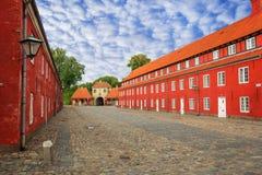 Almacenes rojos de Kastellet fotos de archivo libres de regalías