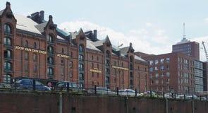almacenes Speicherstadt-viejos en Hamburgo-Alemania Fotografía de archivo