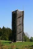 Almacenes verticales de madera Foto de archivo libre de regalías