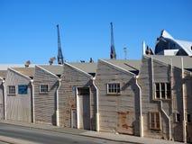 Almacenes viejos del hierro acanalado, Fremantle, Australia occidental fotos de archivo