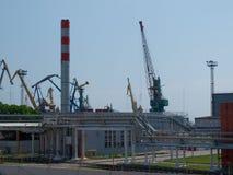 Almacenes y puerto de los edificios Foto de archivo libre de regalías