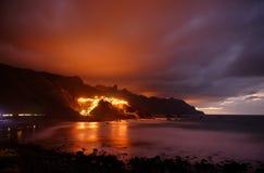 Almaciga by i Tenerife Royaltyfri Foto