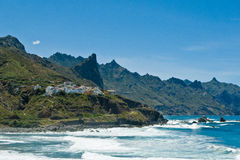Almaciga, Noordoostelijke kust van Tenerife Royalty-vrije Stock Foto's