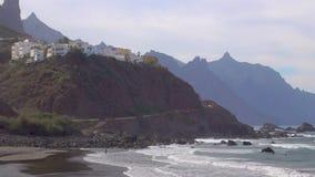 Almaciga-Strand in Teneriffa stock footage