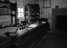Almacén general de la vendimia negra y blanca Imagenes de archivo
