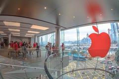 Almacén Hong-Kong de Apple Foto de archivo libre de regalías