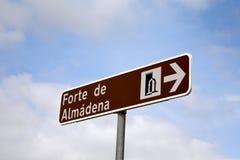 Almadena Festung in der Algarve, Portugal Lizenzfreie Stockbilder