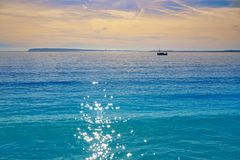 Almadraba beach in alicante of Spain. At Costa Blanca royalty free stock photo