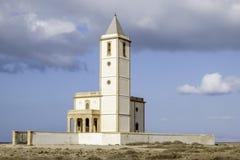 Almadraba de monteleva, cabo de gata, Andalusia, spagna, Europa, chiesa delle saline di las Immagine Stock Libera da Diritti