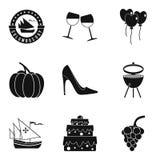 Almanac icons set, simple style. Almanac icons set. Simple set of 9 almanac vector icons for web isolated on white background Stock Image