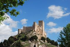 Almansa castle Stock Images
