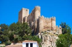 Almansa slott i Albacete av Spanien fotografering för bildbyråer