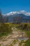 Almanzor peak from old road in Candeleda. Almanzor peak from old road Stock Images