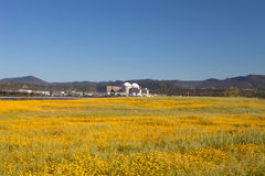 Almaraz nuclear power plant in the center of Spain Stock Photography