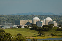 Almaraz nuclear power plant in the center of Spain Royalty Free Stock Photo
