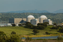 Almaraz nuclear power plant in the center of Spain Royalty Free Stock Images