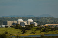 Almaraz nuclear power plant in the center of Spain Royalty Free Stock Image