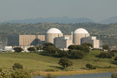 Almaraz nuclear power plant in the center of Spain Stock Images