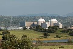 Almaraz nuclear power plant in the center of Spain Royalty Free Stock Photography