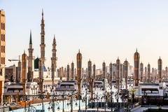 AlMasjid an-Nabawi在麦地那也叫Prophet穆罕默德清真寺罗萨e Rasool PBUH,沙特阿拉伯 库存图片