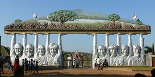 Almatty dam and beatifull gardens Stock Photos