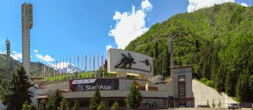 Almaty - Łyżwiarski lodowisko Medeo obraz royalty free
