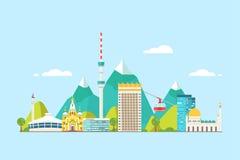 Almaty abstrakta linia horyzontu ilustracja wektor