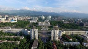 Almaty - Aerial view stock footage