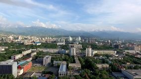 Almaty - Aerial view stock video