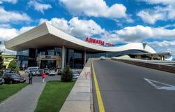 Almaty - aeroporto di Almaty Immagini Stock