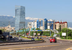 Almaty -  Al-Farabi avenue Royalty Free Stock Photography