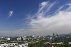 Almaty. Ansicht der Stadt Stockbilder