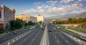 Almaty auto road time lapse stock video footage