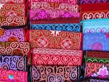 Almaty - borse etniche kazake Immagini Stock Libere da Diritti