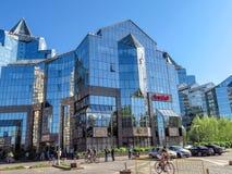 Almaty - Business Center Nurly Tau Royalty Free Stock Photos