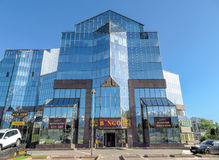 Almaty - Business Center Nurly Tau Stock Images