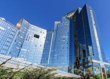 Almaty - Business Center Nurly Tau - Panorama Stock Photo