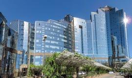 Almaty - Business Center Nurly Tau - Panorama Stock Photography