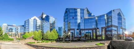 Almaty - Business Center Nurly Tau - Panoramic Royalty Free Stock Photo